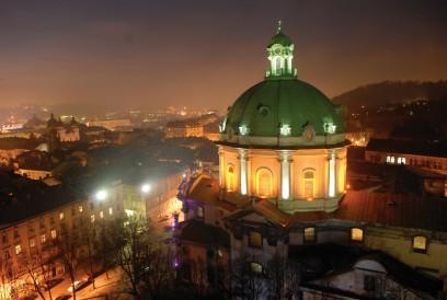 Nachtpanorama von Lwiw